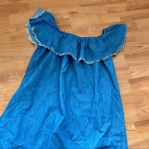 Mossimo Supply Co. Dresses - Denim Chambray Off Shoulder Dress